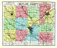County Map, Butler County 1914