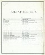 Table of Contents, Carroll County 1874