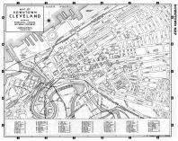 Downtown Cleveland Map, Atlas: Cleveland and Cuyahoga County 1957 ...