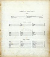 Table of Contents, Clinton County 1876