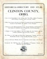 Title Page, Clinton County 1903