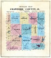 County Outline Map, Crawford County 1873