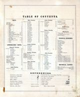 Table of Contents, Erie County 1874