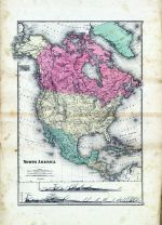 North America Map, Fayette County 1875