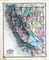 State Maps - California, Nevada, Fayette County 1875