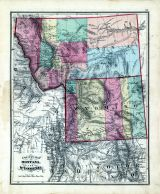 State Maps - Montana, Wyoming, Fayette County 1875