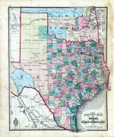 State Maps - Texas, Indian Territory, Fayette County 1875