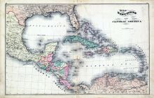 West Indies, Central America Map, Fayette County 1875