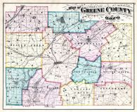 County Map, Greene County 1874