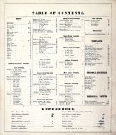 Table of Contents, Greene County 1874