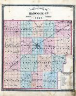 County Outline Map, Hancock County 1875