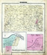 Athens, Mastersville, New Town, Harrison County 1875 Caldwell