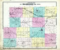 Outline Map, Harrison County 1875 Caldwell