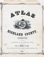 Title Pages, Highland County 1887