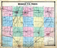Outline Map, Huron County 1873