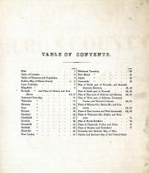 Table of Contents, Huron County 1873