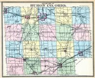 County Outline Map, Huron County 1891