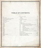 Table of Contents, Huron County 1891
