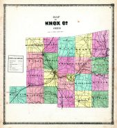 Outline Map, Knox County 1871