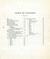 Table of Contents, Knox County 1871