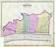 Index Map - Ironton, Lawrence County 1887
