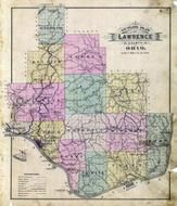 Lawrence County Outline Map, Lawrence County 1887