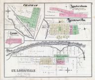 Chatham, Amsterdam, Brownsville, Luray, St. Louisville, Licking County 1875