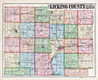 Licking County Map, Licking County 1875