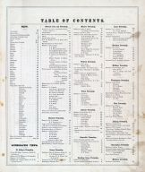 Table of Contents 1, Licking County 1875
