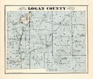 County Map, Logan County 1875
