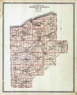 Lorain County Outline Map, Lorain County 1896