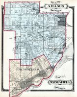 Adams Township, Waynesfield Township, Maumee City, Central Grove, Blen, Richards, Norwood University, Lucas County and Part of Wood County 1875 Including Toledo