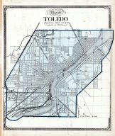 Index Map - Toledo, Lucas County and Part of Wood County 1875 Including Toledo