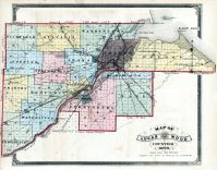 Lucas and Part of Wood Counties Map, Lucas County and Part of Wood County 1875 Including Toledo