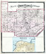 Mon Clova Township, Maumee River, Lucas County and Part of Wood County 1875 Including Toledo