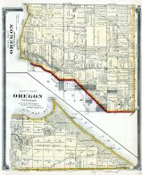 Oregon Township - West - East, Cedar Point, Brandville, Otter Creek, New Jerusalem, Lucas County and Part of Wood County 1875 Including Toledo