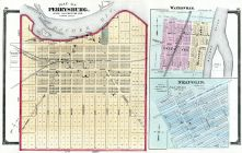 Perrysburg, Waterville Neapolis, Lucas County and Part of Wood County 1875 Including Toledo
