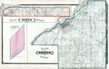 Ross Township, Perrysburg Township, Maumee River, Lucas County and Part of Wood County 1875 Including Toledo