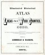 Title Page, Lucas County and Part of Wood County 1875 Including Toledo