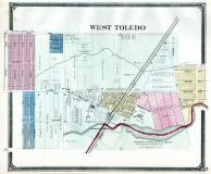 Toledo - West, Lucas County and Part of Wood County 1875 Including Toledo