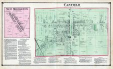 New Middleton Canfield Atlas Mahoning County 1874 Ohio