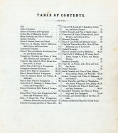 Table of Contents, Mahoning County 1874