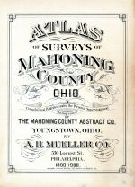 Title Page, Mahoning County 1899 - 1900