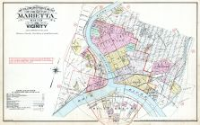 Index Map - Marietta City Outline, Marietta - Ohio and Williamstown - West Virginia 1902
