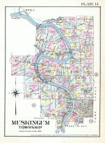 Plate 015 - Muskingum Township, Marietta - Ohio and Williamstown - West Virginia 1902