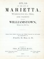 Title Page, Marietta - Ohio and Williamstown - West Virginia 1902