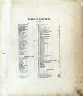 Table of Contents, Marion County 1878