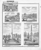 W.H. Nice, S.M. Franks, James A. Rice, Memorial Monument, Wadsworth Marble Works, Medina County 1874