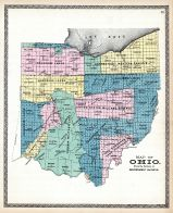 Ohio State Map - Showing Government Surveys, Medina County 1897