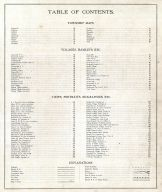 Table of Contents, Medina County 1897
